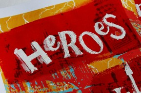 Heroes Make Villians band poster