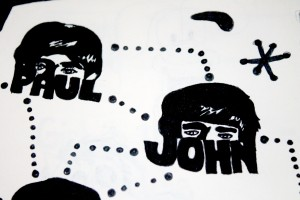 The Beatles poster detail