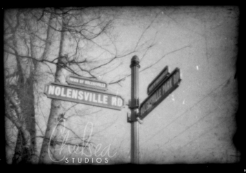 Nolensville Rd / Nolesnville Park Rd. intersection | Nolensville, TN | Film Negative